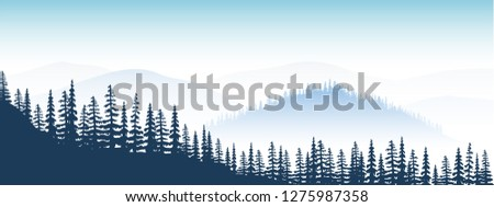 mountain landscape twilight