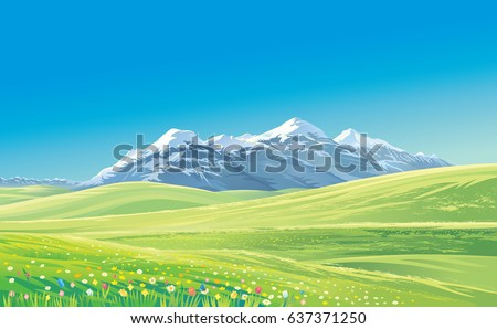 mountain landscape with alpine