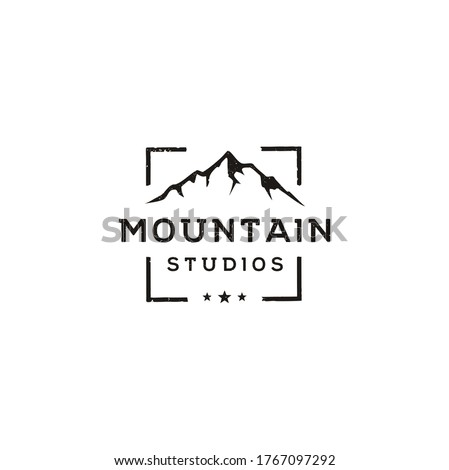 mountain landscape with focus