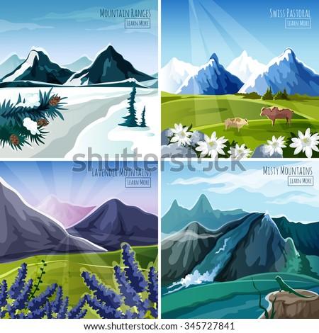 mountain landscapes design