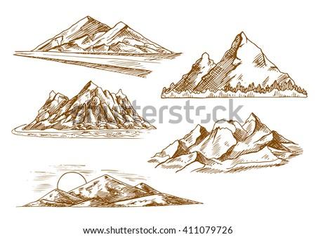 mountain landscapes sketch