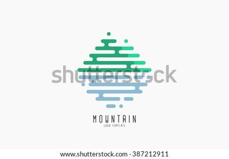 mountain line logo beautiful