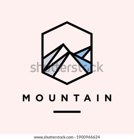 mountain logo design premium