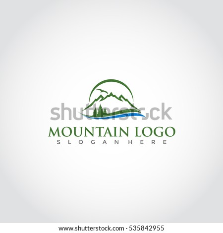 mountain logo  elegant mountain
