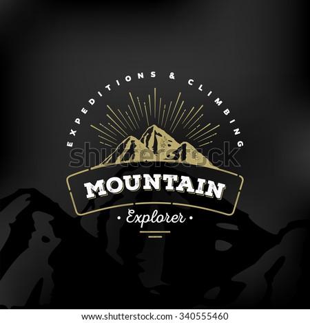 mountain logo emblem. adventure ...