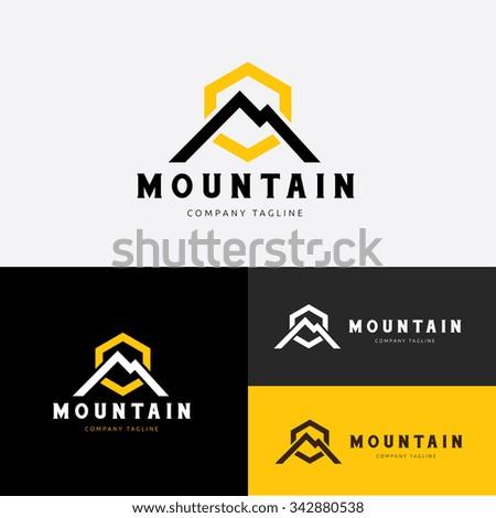 mountain logo  excavator logo