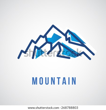 mountain logo   geometric sign