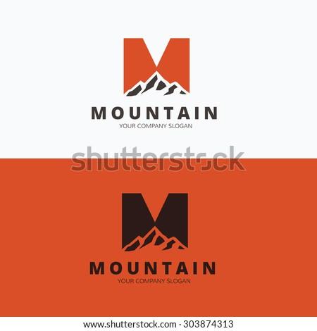 mountain logo outdoor travel