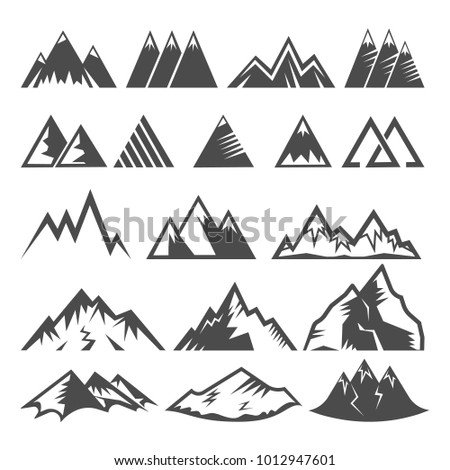 mountain logo vector mounting