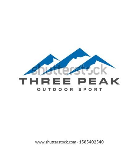 mountain logo with text