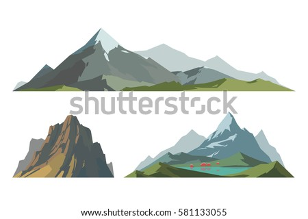 mountain mature silhouette...