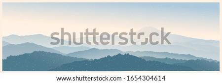 mountain morning landscape
