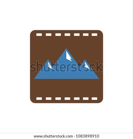 mountain movie vector