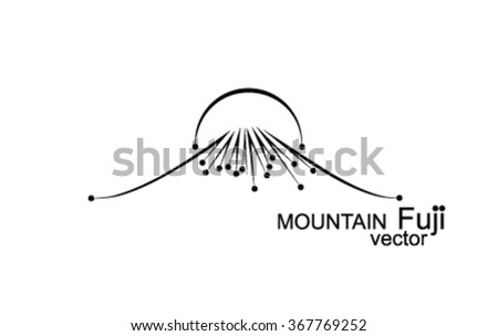 Mountaineer line logos download free vector art stock graphics mountain outlines logo points sunset volcano fuji pronofoot35fo Images