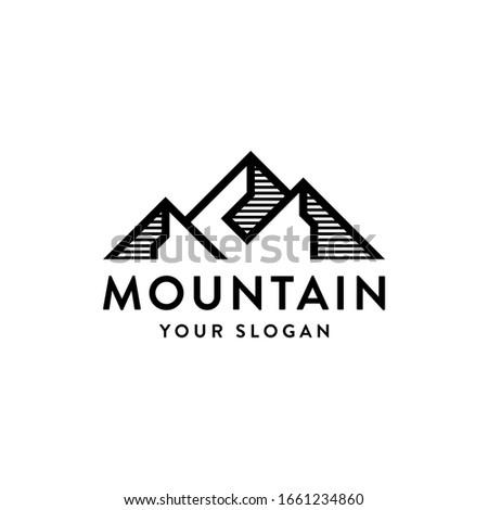 mountain peak landscape vector