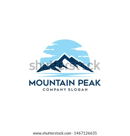mountain peak simple icon