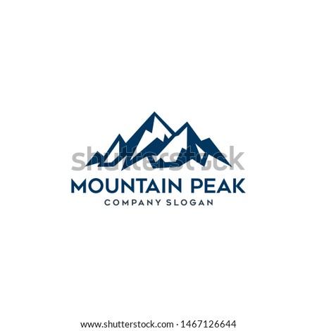 mountain peak simple icon