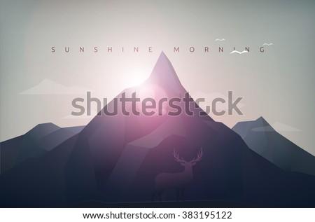 mountain polygon landscape