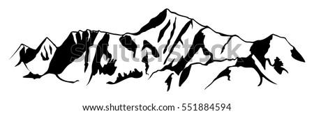 mountain range drawing. simple...