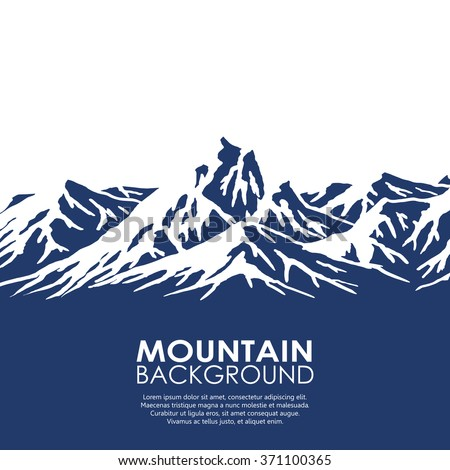 mountain range isolated on
