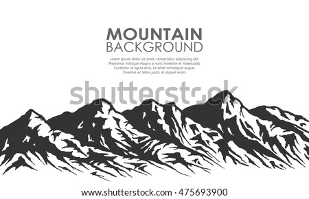 mountain range silhouette