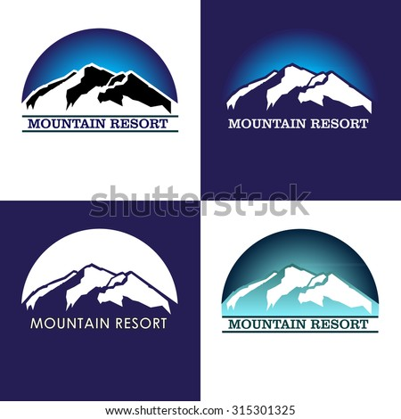 mountain resort logos template