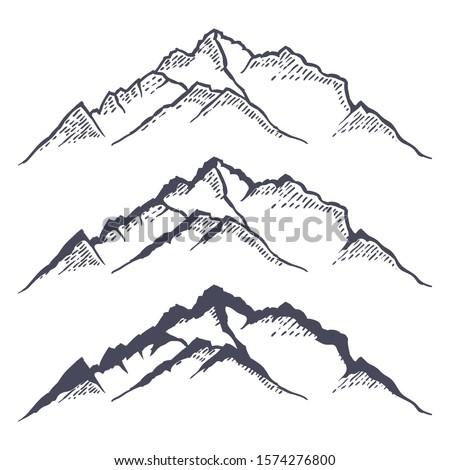mountain ridge or range hand