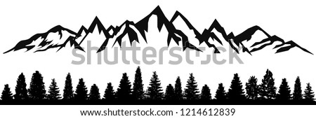 mountain ridge with many peaks