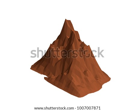 mountain rock isolated on
