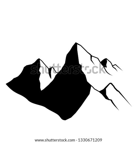 Mountain Shape icons  Vector