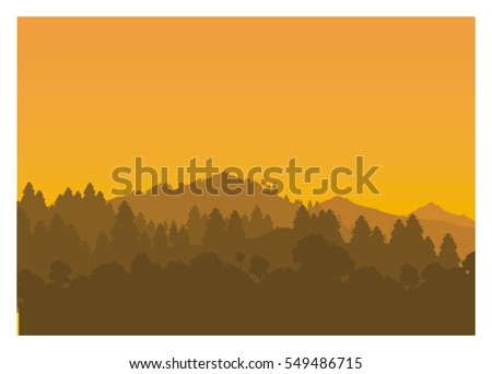 mountain silhouette in afternoon