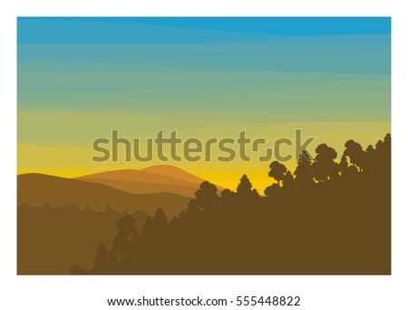 mountain silhouette with
