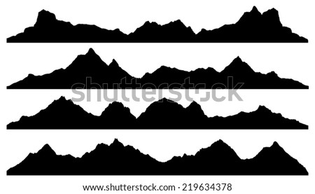 mountain silhouettes on the