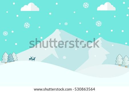 mountain snow landscape vector