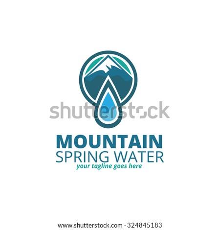 mountain spring water logo
