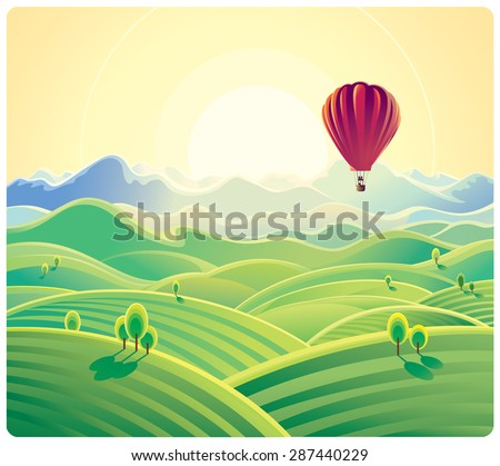 mountain summer landscape and