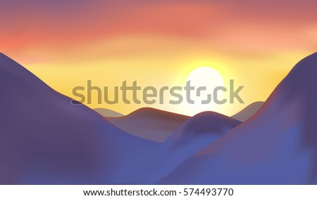 mountain sunset and sunrise