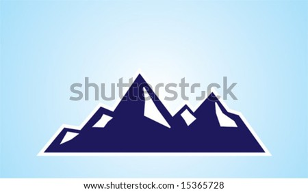 Mountain Symbol - stock vector