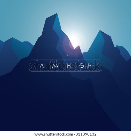 mountain vector background