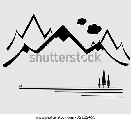 mountain vector format