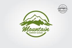 Mountain vector logo illustration. Multipurpose logo for your business.