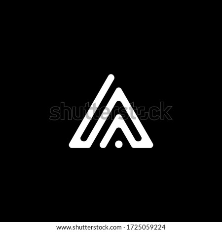 mountain vector logo la letter