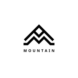 mountain vector logo template travel and adventure business
