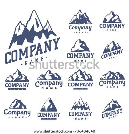 mountain vector silhouette