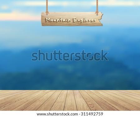 mountain view summer landscape