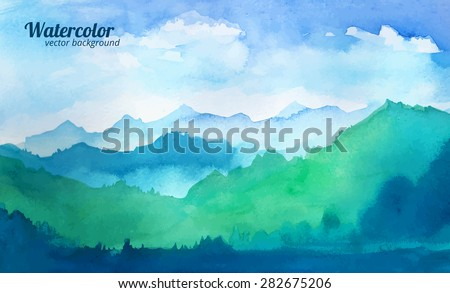 stock-vector-mountain-watercolor-vector