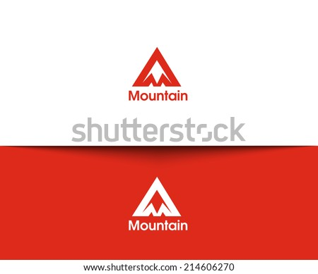 mountain web icons and vector