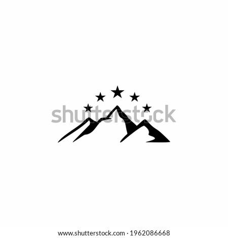 mountain with star on top for