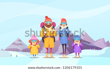 mountaineering family winter