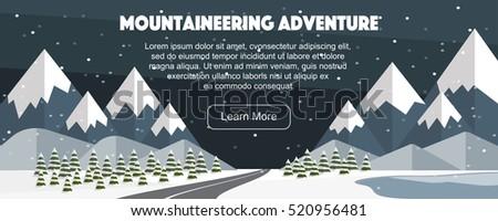 mountaineering winter banner